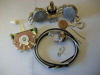Wiring Harness Kit For Strat CTS Oak Switchcraft .02uf Tecate Ceramic Cap 1970's