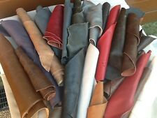 1kg Big Beautiful  scraps/ Off cuts Leather Italian Mixed colours