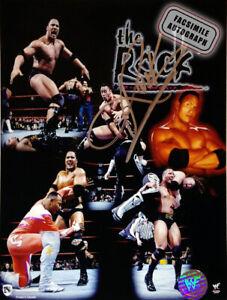 Facsimile Autographed Dwayne The Rock Johnson Photo - WWE