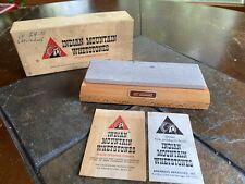 Vintage INDIAN MOUNTAIN WHETSTONE SHARPENING SOFT ARKANSAS KNIFE SHARPENER New