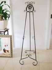 French Style Scroll Easel Frame Sign Menu Display Wedding Cast Iron Motif BL003