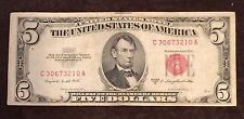1953 Five Dollar Bill Red Seal Note Randomly Hand Picked VG - Fine FREE SHIPPING