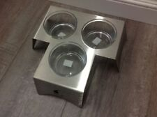 NewUs Made Stainless Steel Italy Made Antivomit Glass Bowl Feeder Dish for Cats