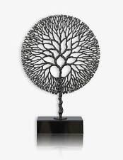 grand arbre sculpture en forgé à la main fer sur base en marbre. Hauteur 75 cm