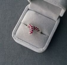 STERLING SILVER RUBY RING SIZE M 1/2 SOLID 925