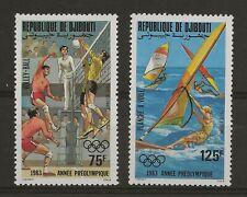 DJIBOUTI  Lot 15  N° A181 et 182  Neuf ** MNH  Jeux olympiques