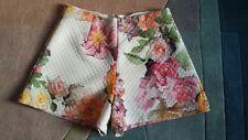 Asos Estampado Floral con Cintura Alta Pantalones Cortos-tamaño 12