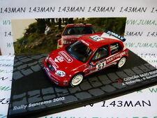 voiture 1/43 IXO  Rallye ITALIE CITROËN Saxo S1600 Dallavilla San Rémo 2002 #51