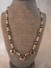 VINTAGE FACETED CRYSTAL NECKLACE 14/20 GOLD FILLED COSTUME JEWELRY HEAVEN BOX C