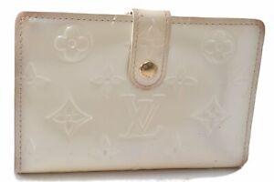 Louis Vuitton Vernis Porte Monnaie Billets Viennois Wallet White M91363 LV D8148