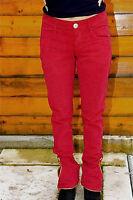 pantalon slim stretch velours bordeaux M&F GIRBAUD T 29 (38-40) NEUF ÉTIQUETTE
