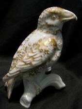 Vista Alegre Gilt Porcelain BIRD FIGURINE Portugal Crossbill Finch Repaired Tail