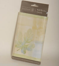 Pastel Watercolor Mint Green Yellow Blue Loose Leaf Block Wall paper Border