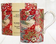 Royal Worcester William Morris & Co Strawberry Thief China Mug Crimson Red Boxed