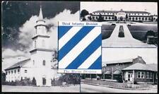 FORT BENNING GA Chapel Officers & Service Club 3rd Infantry Marne Vtg Postcard