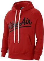 Nike Air Fleece Pull Over Hoodie Men's Red / Black CV9147 657 multiple sizes New