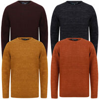 Tokyo Laundry Men's Wool Blend Knitted Jumper Crew Neck Sweater Pullover Top