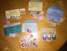 VINTAGE 50's  POSTAGE STAMPS LOT ASSORTED COUNTRIES WORLD WIDE