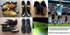 2017-18 Raheem Sterling Match Issued & Signed Man City Nike Boots COA (16773)
