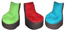 Sitzsack stylischer Beanbag mit Lehne ca. 70x80x82 cm ca.240L Füllung zweifarbig