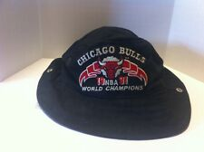 Vintage 1991 Chicago Bulls World Championship Bucket Hat Size Small  Very Rare