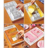 DIY Alphabet Letter Number Tin Pan Cake Decor Aluminum Alloy Pan Baking Mold