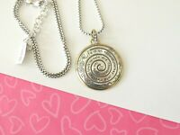 Brighton Endless Journey Quotes Medallion Round Pendant Necklace New tags