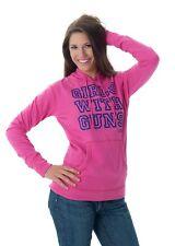 NWT~CABELAS PINK GIRLS WITH GUNS WOMENS HOODIE SWEATSHIRT