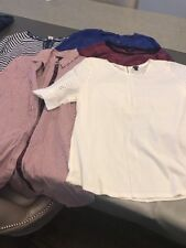 J. Crew J Lot Ladies Clothing Size Large L 12 Blouse Shirt Top White Blue Red