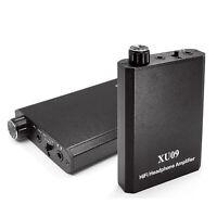 Mini Audio HIFI Headphone Amplifier Portable Earphone AMP 3.5mm w/USB Cable