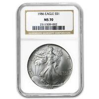 1986 Silver American Eagle MS-70 NGC (Registry Set) - SKU #9700