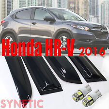 Honda HRV 2016 and Up Smoke Deflector Side Window Vent Visor Rain Guard +T10 LED
