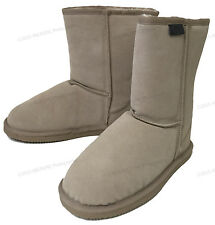 """Womens Winter Boots Fashion Suede Leather 8"""" Shearling Warm Fur Snow Shoes Sizes"""