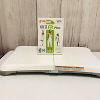 Nintendo Wii Fit Balance Board Bundle With Wii Fit Plus Game
