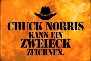 Chuck Norris Spruch 25 Blechschild Schild gewölbt Metal Tin Sign 20 x 30 cm