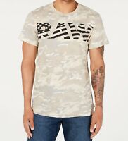 G-Star Mens Shirt Beige Size 2XL Camouflage RAW Graphic Crewneck Tee $35 #264