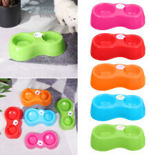 New ListingBottle Cat Dog Food Bowl Double Dishes Pet Feeder Automatic Water Refill