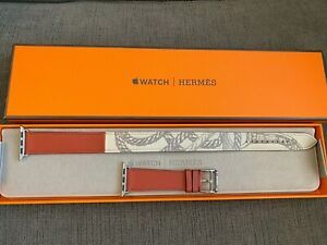 Hermes Apple Watch Single Tour Brique/Béton Swift 38mm 40mm