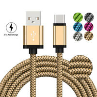 USB C Type-C 3.1 Nylon Fast Charging Cable Data ChargerFor Samsung Note 9 S9+