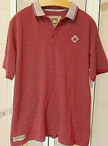 """WEST HAM UNITED OFFICIAL COTTON POLO SHIRT UK SIZE 46-48"""" XL CLARET THE HAMMERS"""