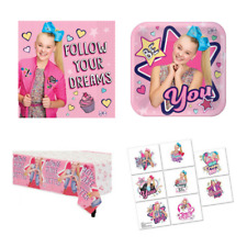 Jojo Siwa Party Supplies 8 x Plates Napkins Tablecover Favours Jo Jo Bow Dance