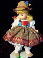 "Vintage Madame Alexander Doll Austria No.532 8"" Austrian Girl w Petticoats 1988"
