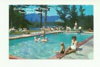 GREETINGS FROM LAKE PLACID, NEW YORK, TOWN HOUSE MOTEL, CHROME POSTCARD