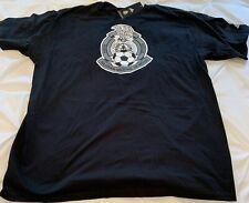 Adidas Mexico Black Football Soccer National Team Logo T Shirt 2XL XXL New