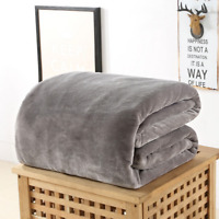 Autumn and winter thick solid color flannel blanket blanket blanket office knee