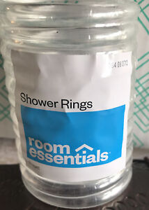 New In Wrapper Clear Shower Rings By Room Essentials - 12 Rings In Pack