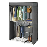 Double Rob Closet COVER ONLY Wardrobe Organizer Clothes Storage Hanging Rack