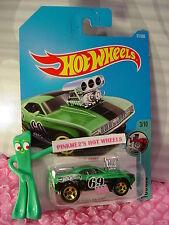 '69 CAMARO Z28 #171✰Satin Green/Black;gold 5sp✰Tooned✰2017 i Hot Wheels case H/J