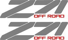Z71 chevrolet truck 4x4 off road decal sticker chevy 1500 silver aftermarket