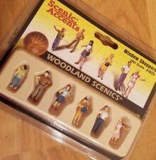 HO Scale Woodland Scenics Ho Scale Figurines Window Shoppers  A1825 B